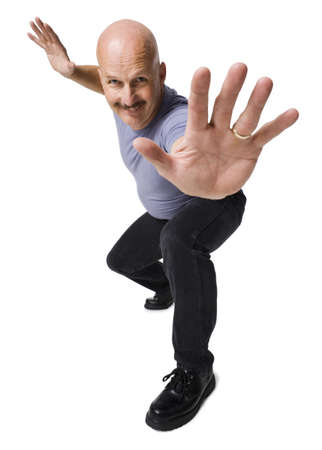Portrait Of A Mature Man Giving Stop Gesture