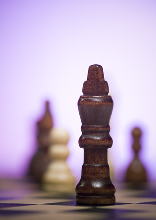 Close-Up Of A Chess Piece