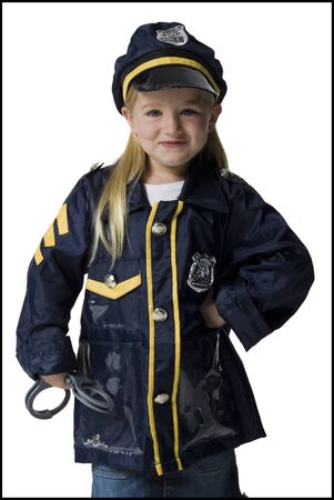 restraints: Portrait Of A Girl Dressed As A Police Officer