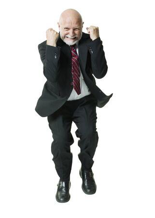 puños cerrados: Retrato de un hombre de negocios apretando su puño LANG_EVOIMAGES
