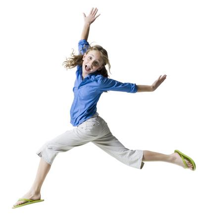 Portrait Of A Girl Running LANG_EVOIMAGES