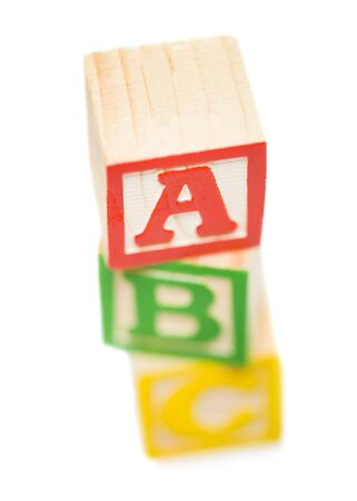High Angle View Of A Stack Of Alphabet Blocks LANG_EVOIMAGES