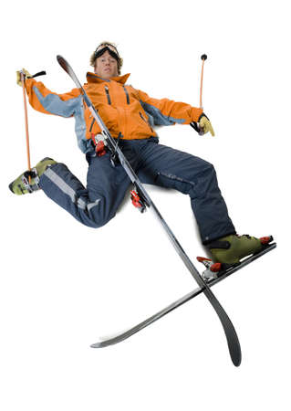 High Angle View Of A Fallen Skier