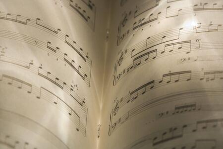 notations: Close-Up Of Music Sheets