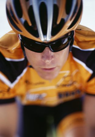 Close-Up Of A Mid Adult Man Wearing A Cycling Helmet LANG_EVOIMAGES