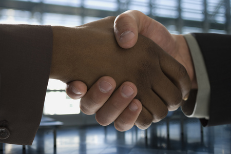introductions: Close-Up Of Two People Shaking Hands LANG_EVOIMAGES