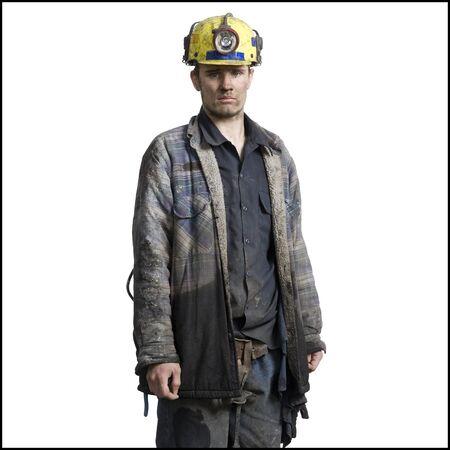 clutter: Portrait Of A Coal Miner Wearing A Hardhat