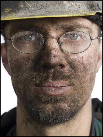 clutter: Portrait Of A Miner Wearing Eyeglasses LANG_EVOIMAGES