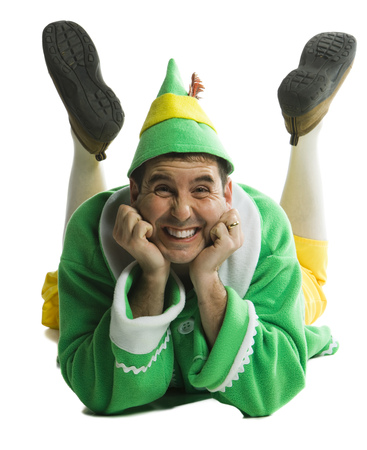 Portrait Of A Young Man Lying Down In Elf Costume LANG_EVOIMAGES