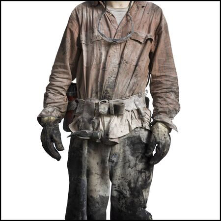 clutter: Mid Section View Of A Miner