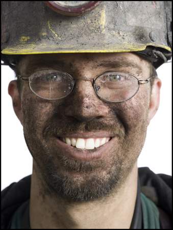 clutter: Close-Up Of A Miner Smiling