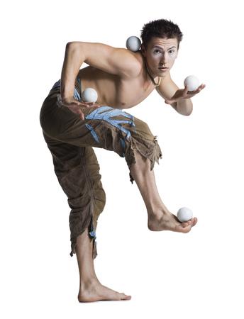multi tasking: Circus Juggler