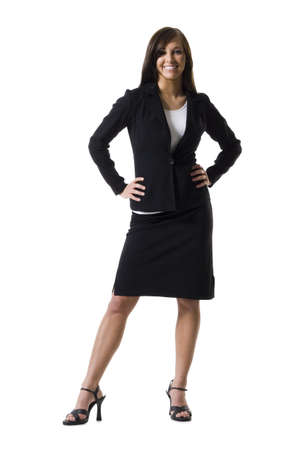 Businesswoman Standing With Hands On Hips LANG_EVOIMAGES