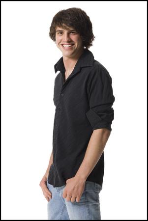 Portrait Of A Teenage Boy Smiling
