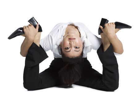 Female Contortionist Businesswoman