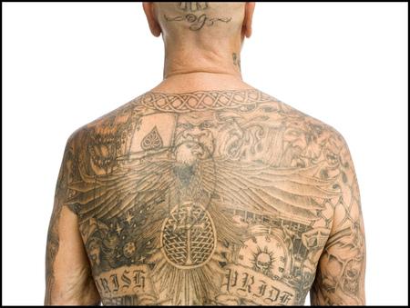 Heavily Tattooed Man
