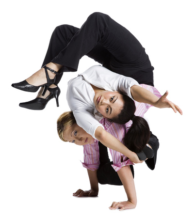 Two Flexible Businesswomen LANG_EVOIMAGES