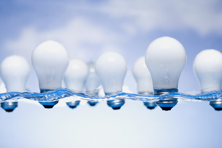 Light Bulbs Floating In Water LANG_EVOIMAGES