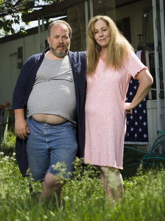 dwelling: Overweight Couple In A Trailer Park