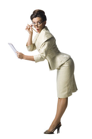 Female Stenographer Taking Notes