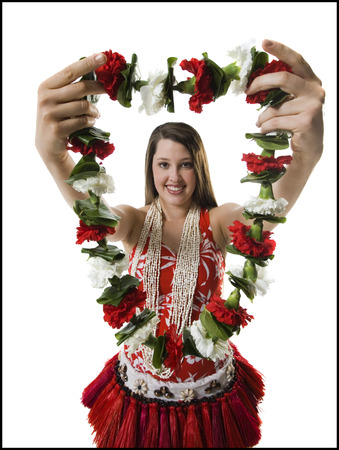 Hawaiian Woman With Lei LANG_EVOIMAGES