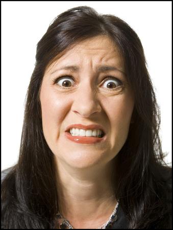 Closeup Of Woman Looking Worried