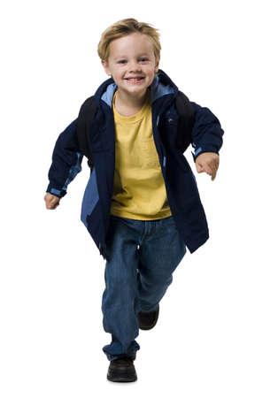 ruck sack: Boy Running LANG_EVOIMAGES