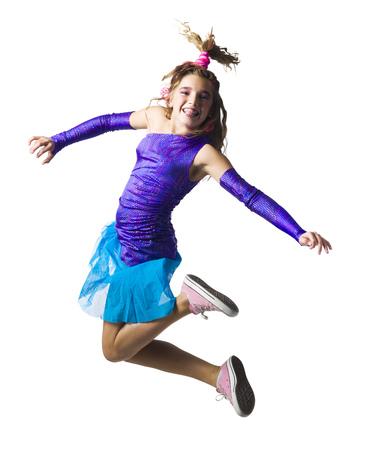 tweens: Girl In Costume Leaping LANG_EVOIMAGES