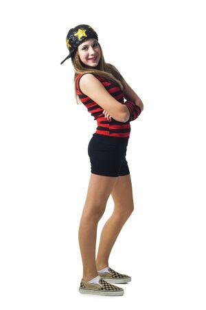 Girl In Costume Posing
