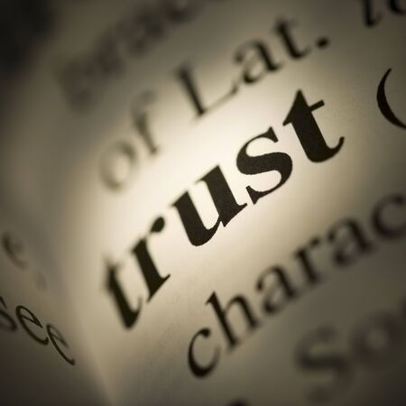 trusted: Close-Up Of Dictionary Definition - Trust