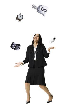 multi tasking: Businesswoman Juggling