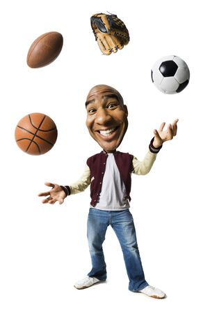 Sports Enthusiast Juggling Sports Equipment LANG_EVOIMAGES
