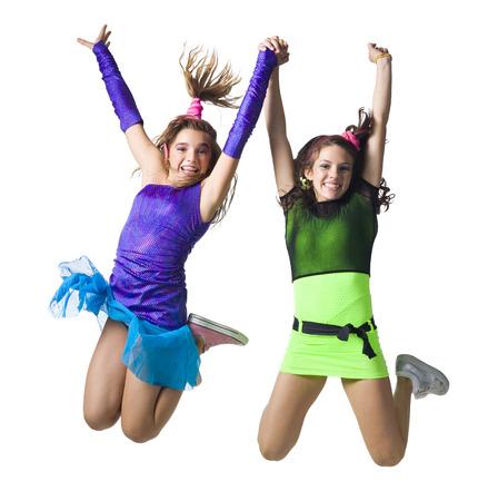 Girls In Costume Dancing