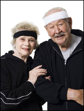 aging woman: Senior Couple In Track Suits