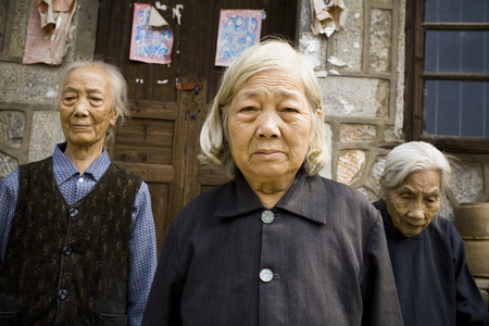 aging woman: Group Of Older Asian People
