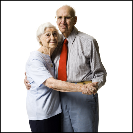 aging woman: Elderly Couple Dancing Together