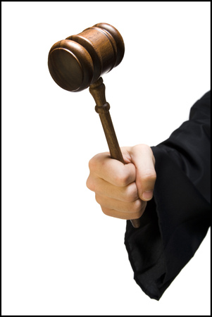Hand With JudgeS Gavel