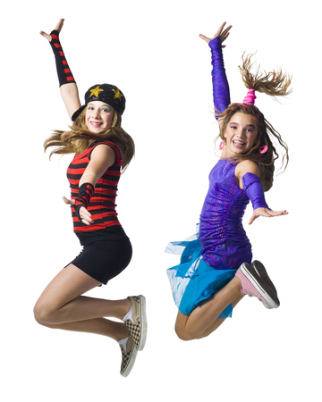 Girls Leaping With Costumes