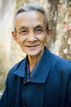 aging woman: Older Chinese Man