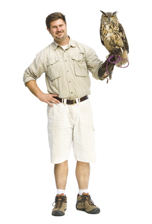 Animal Handler With Owl LANG_EVOIMAGES