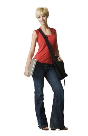 Woman With Bookbag