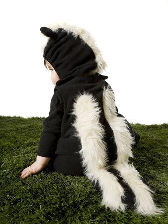 traje mexicano: Child Dressed As Skunk LANG_EVOIMAGES