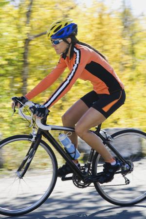 spandex: Female Cyclist