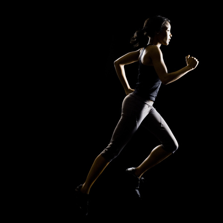 spandex: Woman Running