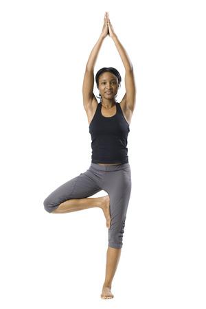 spandex: Woman Doing Yoga