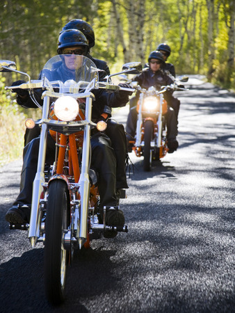 Two Couples On Motorcycles LANG_EVOIMAGES