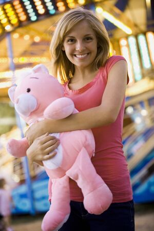 Young Woman With A Stuffed Animal