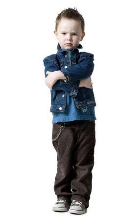 tough: Boy Looking Tough