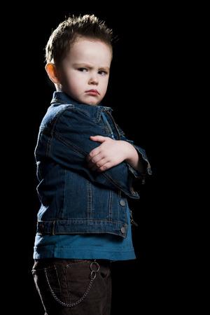 tough: Little Boy In A Jean Jacket LANG_EVOIMAGES