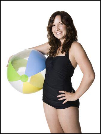 Woman In A Black Swimsuit